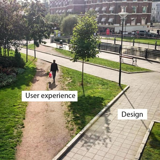 User experience vs design