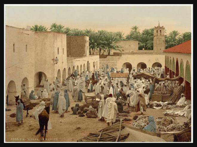 Market, Biskra, Algeria [ca. 1899].