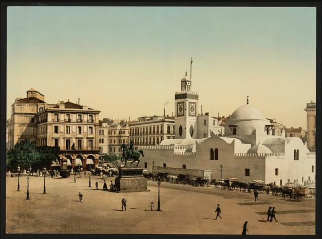 Government place, Algiers, Algeria [ca. 1899].