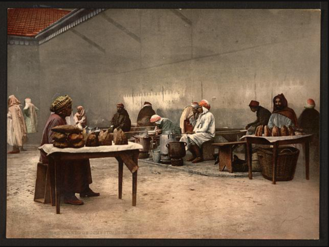 Merchants of eatables, Bona, Algeria [ca. 1899].