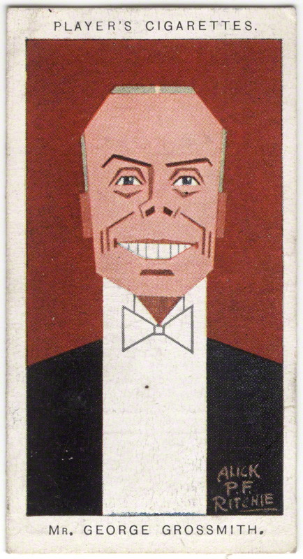 George Grossmith Jr by Alexander ('Alick') Penrose Forbes Ritchie colour relief halftone cigarette card, 1926