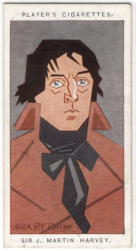 Sir John Martin-Harvey by Alexander ('Alick') Penrose Forbes Ritchie colour relief halftone cigarette card, 1926