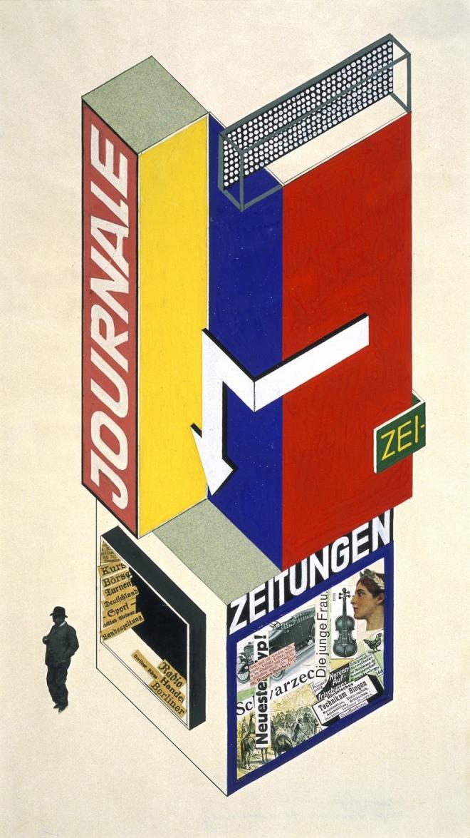 Herbert Bayer's Bauhaus kiosk design